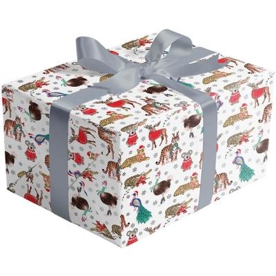 Holiday Safari Gift Wrap 30 x 417