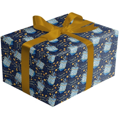 Happy Hanukkah Gift Wrap 30 x 417
