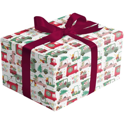 Christmas Cats in Cars Gift Wrap 30 x 417