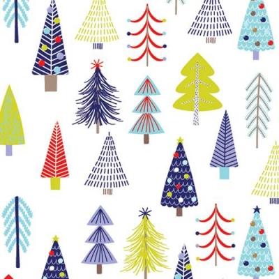 Tinsel Trees Gift Wrap 30 x 833