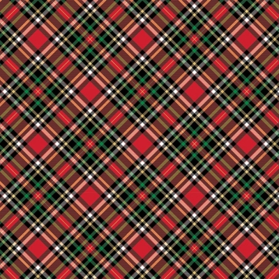 """Red Gold Plaid Tissue Paper 20"""" x 30"""""""