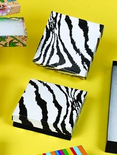 Jewelry Boxes-zebra-#65 - 6 x 5 x 1 - Pack 50