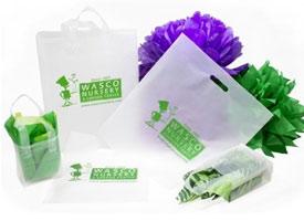 clear frosty merchandise bags