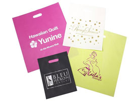 color frosty merchandise bags