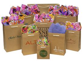 aubrey kraft paper shopping bags