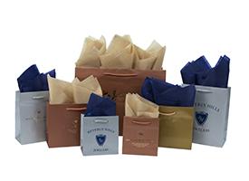 metallic eurotote shoppihng bags