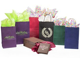 matte kraft tint shopping bags