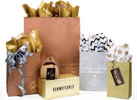 precious metal shopping bags