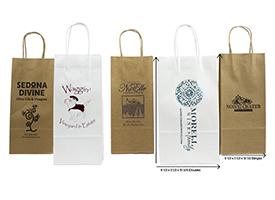 upgraded kraft shopping bags