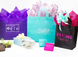 plastic frosty shopping bags