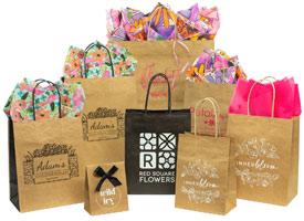 jcut kraft shopping bags