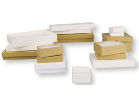 divine white and kraft jewelry boxes
