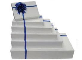 white apparel boxes