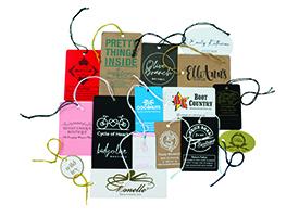 custom printed tags