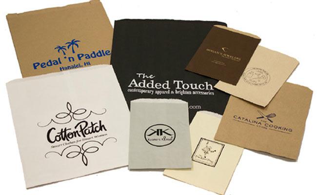 custom printed paper merchandise bags