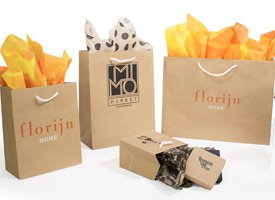 aubrey kraft paper shopping bags