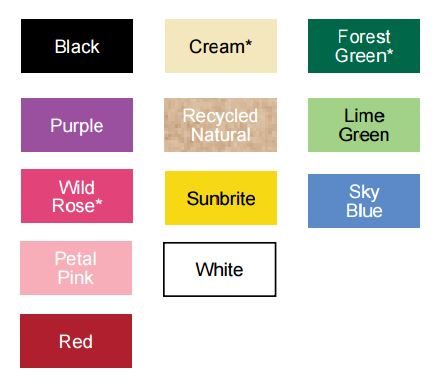 stock paper colors