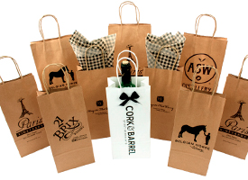 upgraded kraft shopping bags